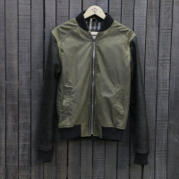 BOMBER ANTIQUE ELITE LEATHER GY104 BLACK