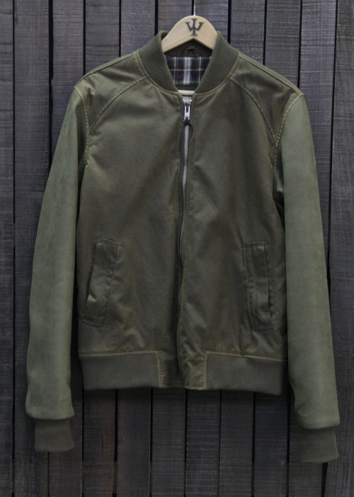 BOMBER ANTIQUE ELITE LEATHER GY104 GREEN