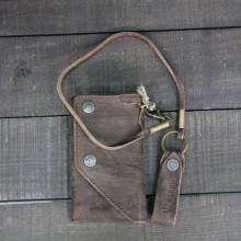 KUMAMOTO REAL LEATHER WOODEN BROWN RAPED