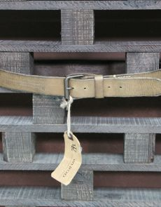 QUIOTO REAL LEATHER WOODEN GREEN RAPED