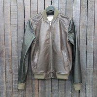 BOMBER 006 - LEATHER - BROWN/BLACK