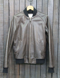BOMBER 008 - LEATHER - BROWN